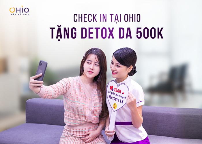 Check in tặng detox da 500K
